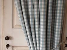 gingham check curtains ebay