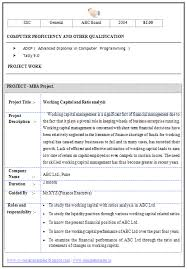Financial Resume Sample by 9 Resume Skillful Mba Resume Sample 2 Mba Resume Template 11 Free