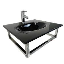 Wall Mounted Lavatory Kokols Wall Mount Sinks Bathroom Sinks The Home Depot