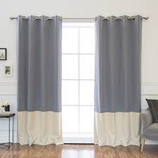 Grey Beige Curtains Best Home Fashion Colorblock Thermal Insulated