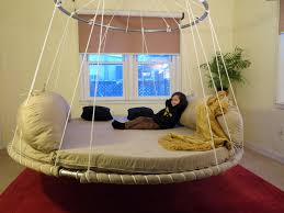Floating Beds by Advanced Design Floating Round Hanging Bed With Upper Ring For