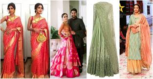 engagement sarees for bridal wedding wear trends for 2018 g3fashion