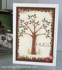 creative cards hug tree card