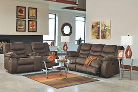 Reclining Sofa With Console by Chivington Reclining Loveseat With Console Ashley Furniture