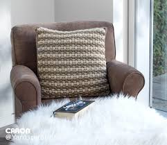 crochet home decor free patterns woven look crochet pillow free pattern caron one pound gray