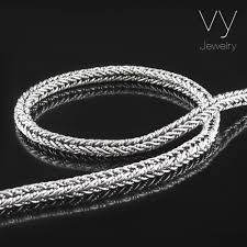 braided chain necklace images Silver braid chain vy jewelry jpg