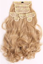 Hair Extensions Next Day Delivery by Super Thick 250g 8 Piece Curly Hair Extensions Lullabellz