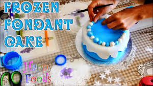 how to make a disney frozen fondant icing cake happyfoods youtube