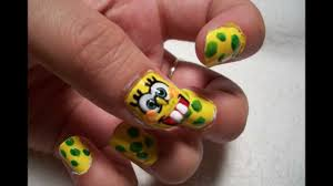spongebob squarepants nail art design youtube