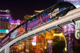 las vegas light rail the las vegas night time monorail ride in full hd youtube