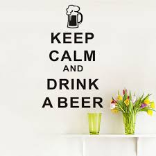 beer home decor dctop keep calm and drink a beer english art wall sticker vinyl