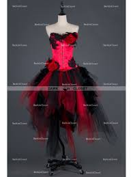 Red And Black Party Dresses Gothic Prom Dresses Gothic Corset Dresses Romantic Gothic