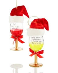 wine glass christmas ornaments amazing deal set of 2 glass wine glass christmas