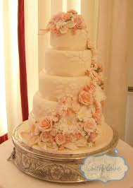 5 tier wedding cake 5 tier wedding cake with loads of handmade sugar flowers including