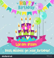 happy birthday card design template image stock vector 402743581