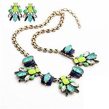 rhinestone statement necklace images Statement necklace fashion necklace for party bee jpg
