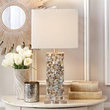 mother of pearl table lamps set of 2 by tozai home seven colonial