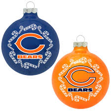 topperscot chicago bears nfl home and away glass ornament set