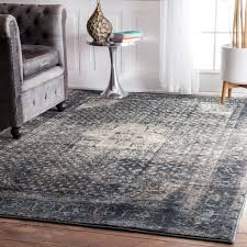 Brown And Grey Area Rugs Maison Emerson Traditional Distressed Blue Grey