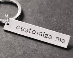 personalized keychain gifts custom keychain etsy