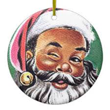black santa claus ornaments keepsake ornaments zazzle
