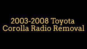 logo toyota corolla como sacar radio de toyota corolla 2003 2008 youtube