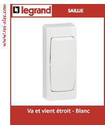 Interphone Video Sans Fil Legrand by Saillie Legrand Va Et Vient étroit Blanc