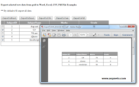Count Word In Pdf Export Gridview Selected Row Data To Word Excel Text Pdf In Asp