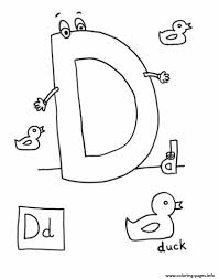 free letter d for duck printable alphabet s047b coloring pages