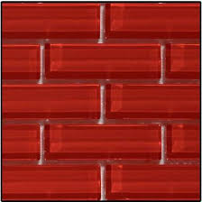 Red Mosaic Tile Backsplash by Universal Ceramic Tiles New York Brooklyn Kitchens Kitchen