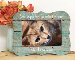 remembrance picture frame cat memorial frame etsy