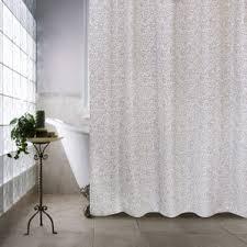 White Cotton Duck Shower Curtain 100 Cotton Shower Curtains You U0027ll Love Wayfair