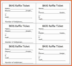 ticket template 8 raffle ticket template word sales report template