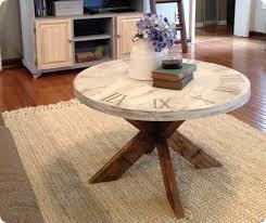 Clock Coffee Table X Base Clock Coffee Table