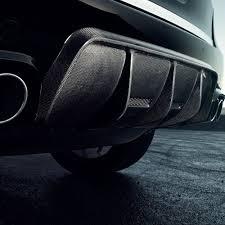 Porsche Cayenne Parts - vc t aero rear bumper cover dvwp carbon fiber diffuser fits