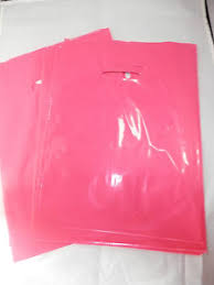 pink gift bags 100 9 x 12 hot pink glossy low density plastic merchandise bags