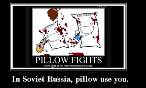 Russia Meme - soviet russia pillowfight meme by jazminian9 on deviantart