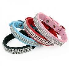 collar diamond necklace images Bling rhinestone dog collars pu leather crystal diamond necklace jpg