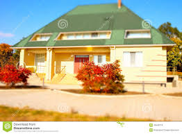 architectural bungalow house exterior design stock photo image