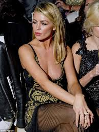 abbey clancy suffers a wardrobe malfunction at julien macdonald