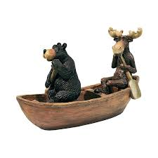 Moose Themed Home Decor by Amazon Com Design Toscano Moose And Black Bear In A Boat Statue