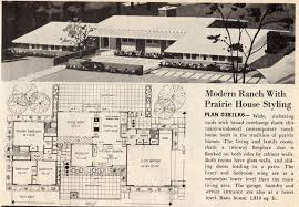 modern home blueprints mid century modern home plans 1954 mid century modern house
