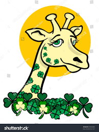 s day giraffe vector giraffe st patricks day stock vector 25866268