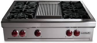 Cooktop With Griddle And Grill Wolf Rt364g 36 Inch Pro Style Gas Rangetop With 4 Dual Brass Open