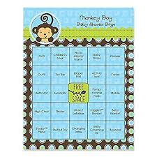 monkey boy baby shower monkey boy baby shower bingo cards 16 count
