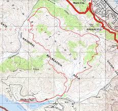 San Francisco Bay Trail Map by Marin Headlands Marincello Bobcat Miwok Trails Bay Area