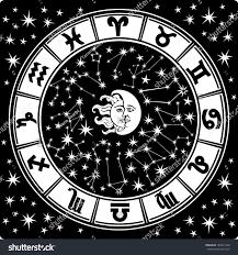 horoscope circle zodiac signs constellations zodiacinside stock