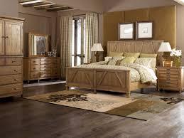 diy rustic bedroom ideas gray painted wood nightstand table modern