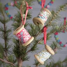 cotton reel christmas tree decoration by the christmas home