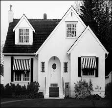 Awnings Of Distinction Typical Modest American English Style Cottage C 1925
